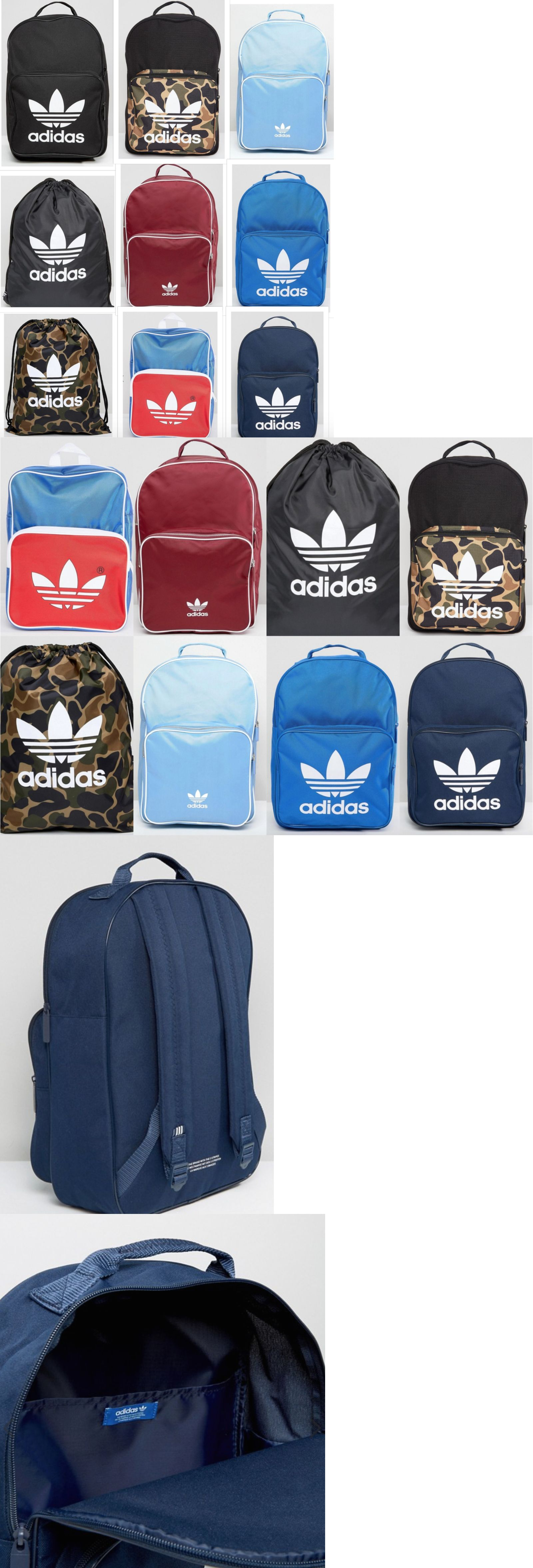 ... buy online efa6b 78ea8 Bags and Backpacks 163537 Adidas Originals  Trefoil Logo Backpack Classic Book Bag ... 0d2425c0ce