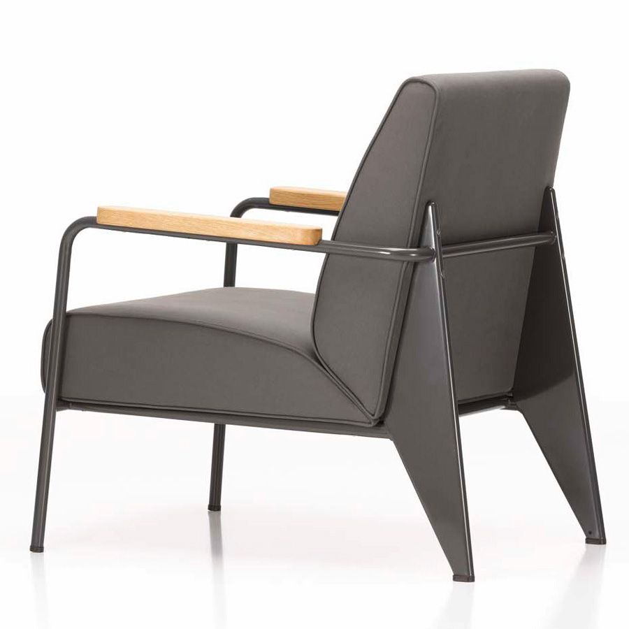 fauteuil de salon jean prouv modern french living room chair vitra - Chaise De Salon Design