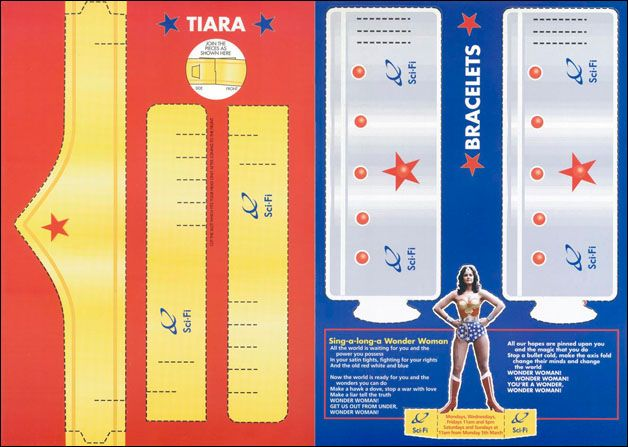 wonder woman tiara and cuffs printable cutout Superhero bday