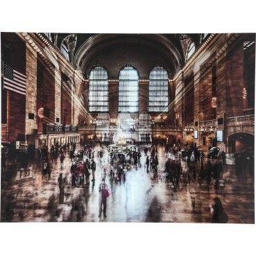 Tableau En Verre Grand Central Station 120x160cm Kare Design En 2019