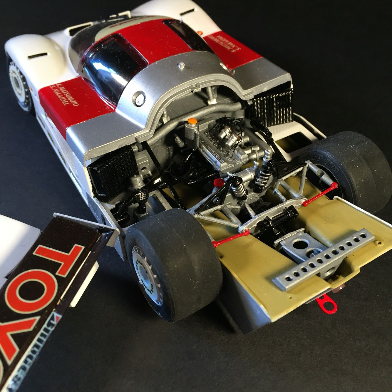 Toyota tom s 84c group c tamiya 1 24 unfortunately the kit was very old and