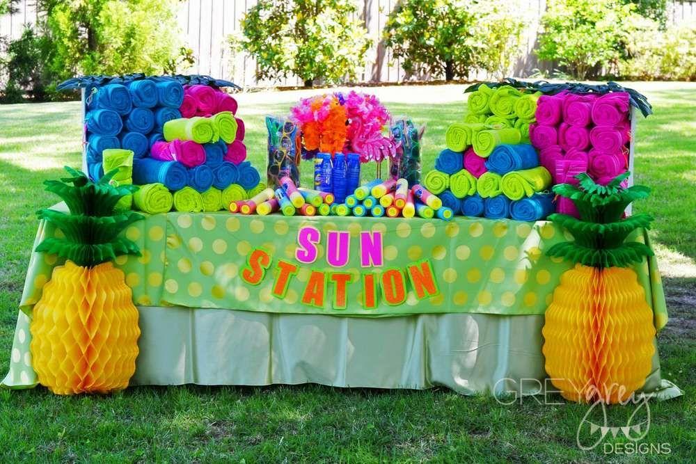Luau Hawaii Beach Graduation End Of School Party Ideas With