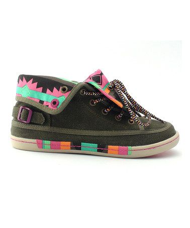 Another great find on #zulily! Olive Tribal Speakeasy Sneaker - Women #zulilyfinds