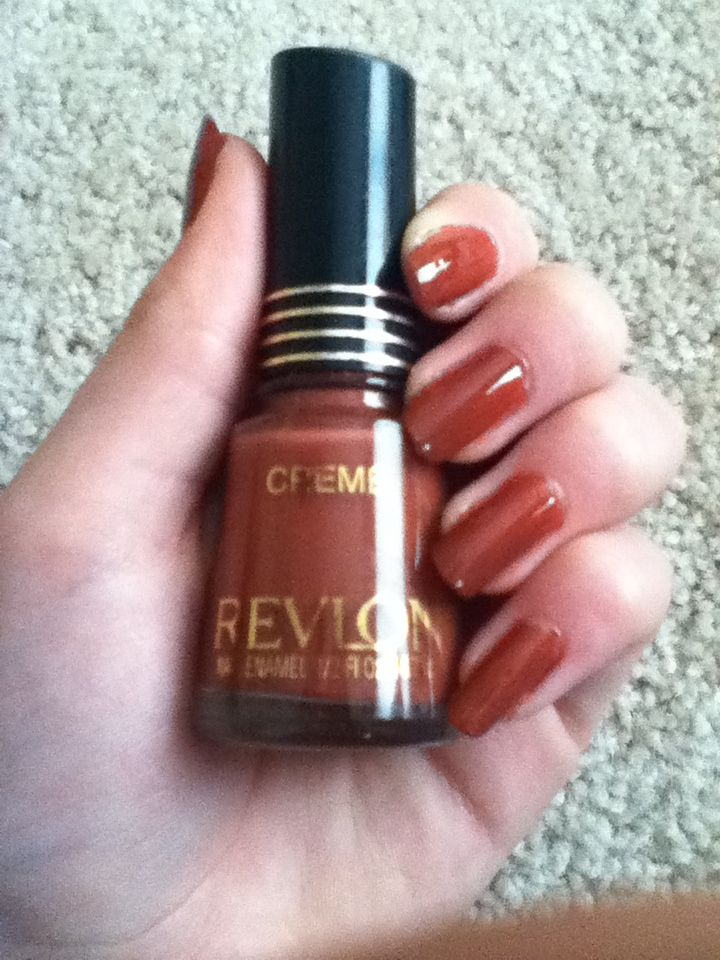 Revlon Creme Nail Polish In Rum Raisin Amazing Fall Colour
