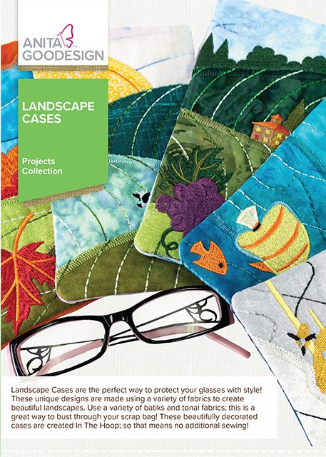 Landscape Cases Anita Goodesign Projects Machine Embroidery Design CD NEW