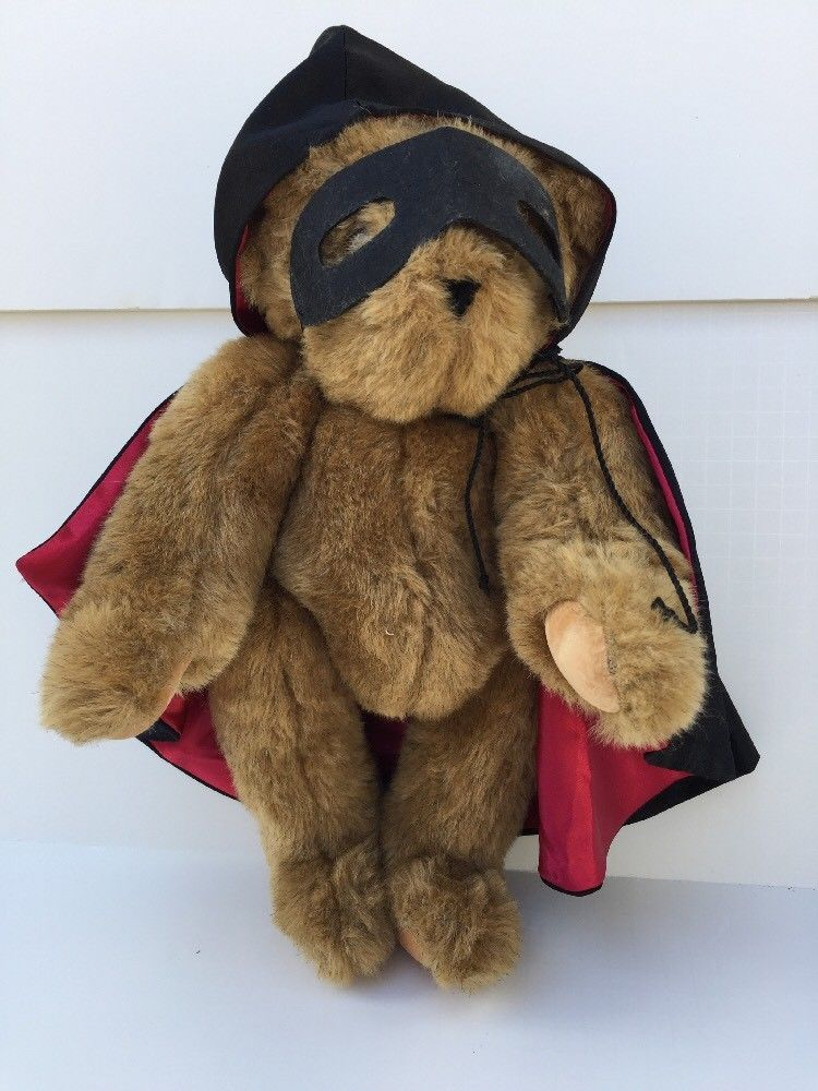 Vermont Teddy Bear Hooded Cape and Mask Plush Jointed Brown Stuffed Animal  USA  VermontTeddyBear  AllOccasion 223f426e0670