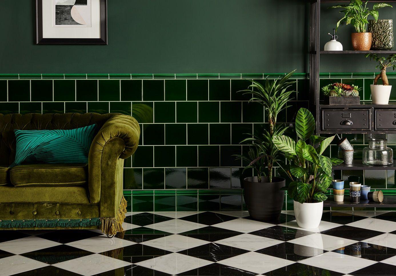 Victorian Green Field Tile Green Tile Bathroom Green Bathroom