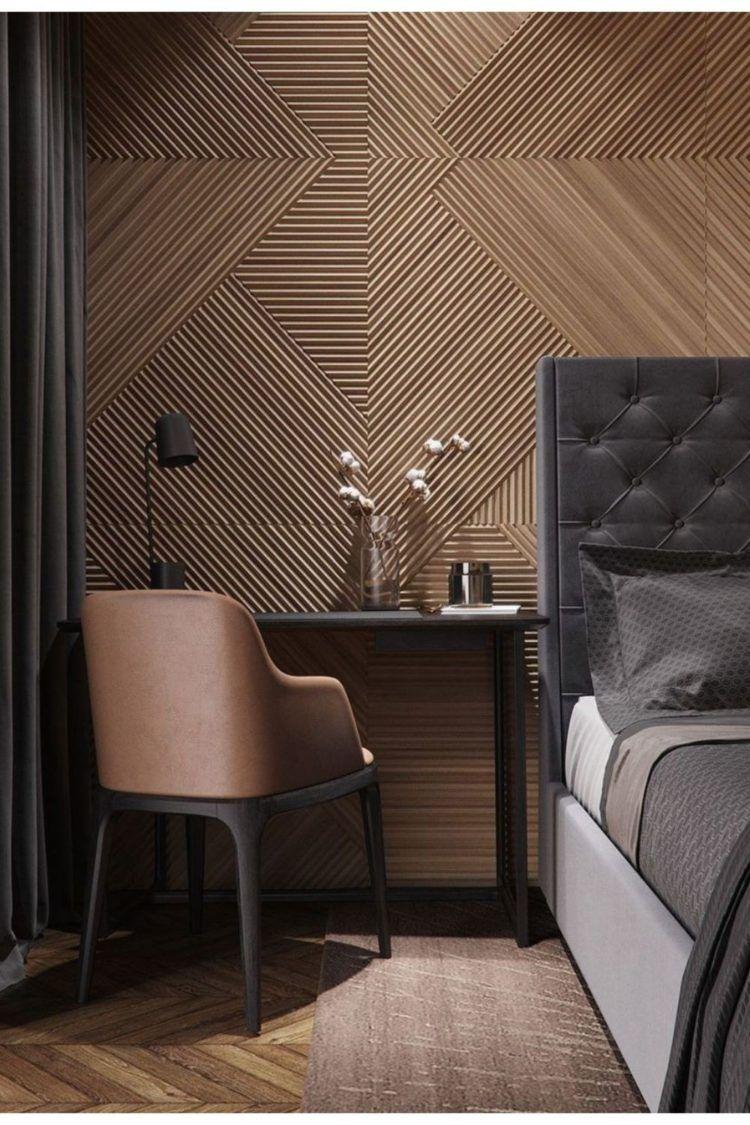 Wall Texture Knockdown Patch Hotel Room Design Bedroom Interior Contemporary Bedroom