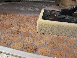 Kurk mozaïek mozaiek tegel kurkvloeren vloerbedekking
