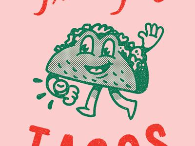 Time For Tacos Illustration Design Graphic Design Inspiration Illustration Character Design
