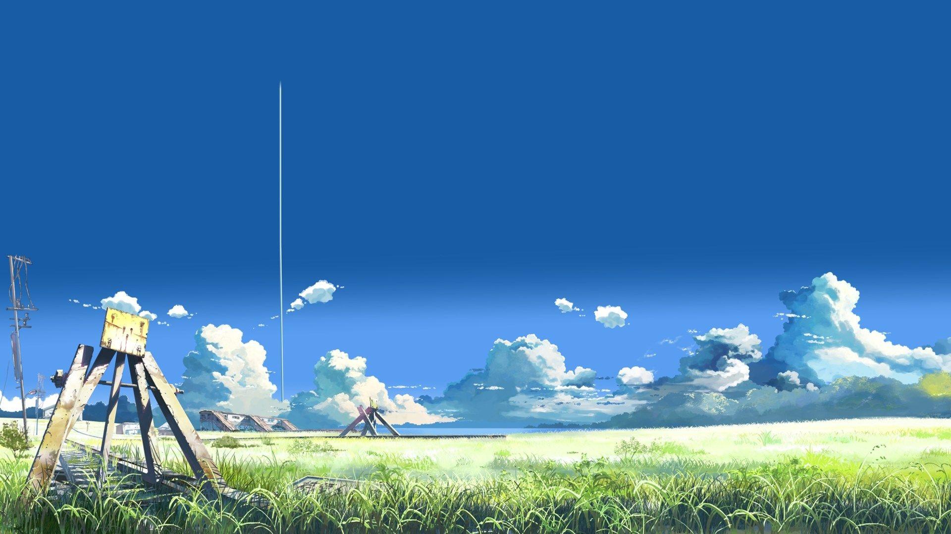 anime Wallpaper Collection 1920x1080 草原 イラスト, 風景の絵