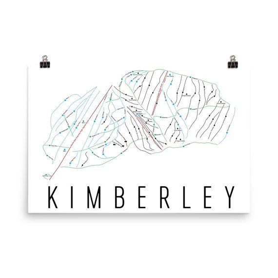 Kimberley Alpine Ski Map Art Kimberley British Columbia