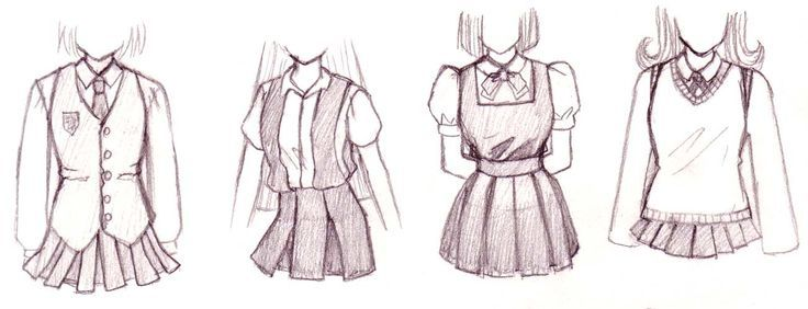 Anime Girl School Clothes - Google Search | Anime | Pinterest | Girls School Clothes Sketch ...