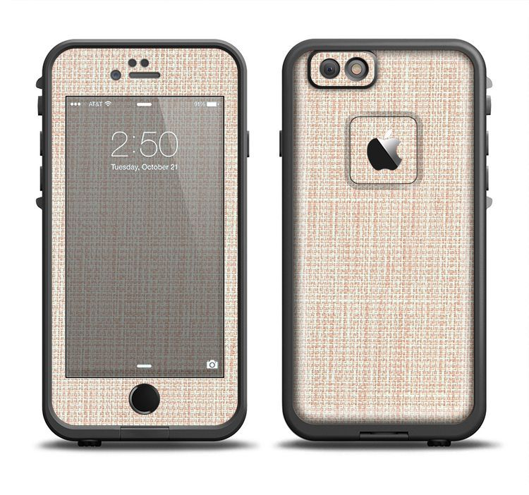 The Tan Woven Fabric Pattern Apple iPhone 6/6s Plus LifeProof Fre Case Skin Set from DesignSkinz