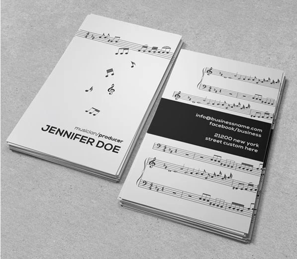 28 musician business card design you must see 28 musician business 28 musician business card design you must see reheart Gallery