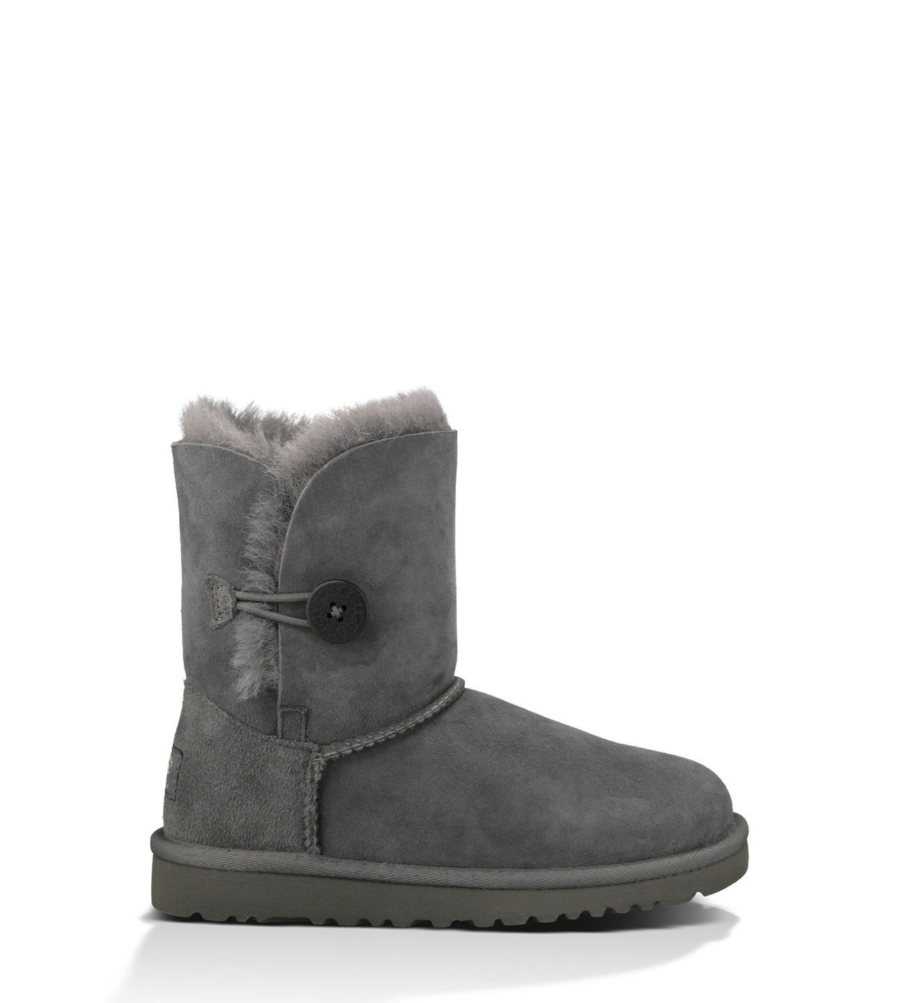outlet store 5eb44 63785 UGG Australia Bailey Button Boot - Grey (Kids)