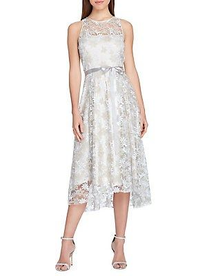 Tahari by Arthur S Levine Womens Sleeveless Floral Embroidery