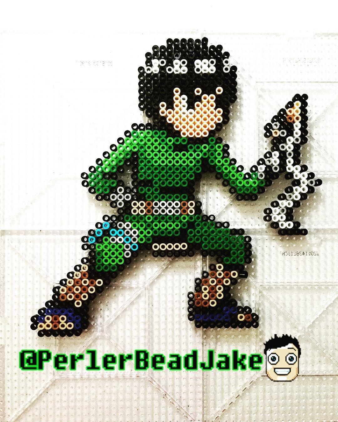 Nara Beads: Rock Lee - Naruto Perler Beads By Perlerbeadjake