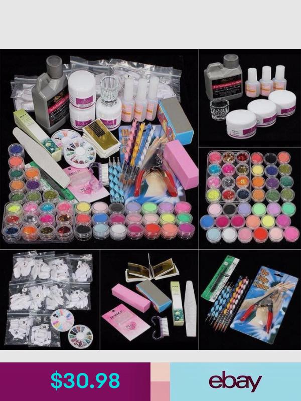 Manicure Pedicure Kits Ebay Health Beauty Diy Acrylic Nails Kit Diy Acrylic Nails Acrylic Nail Kit
