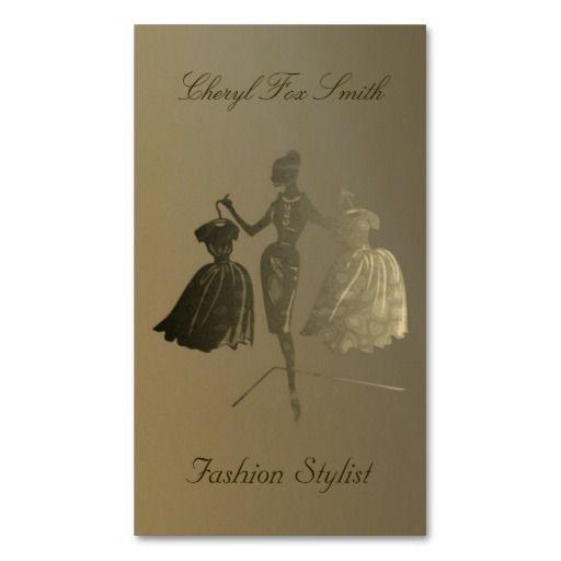Golden fashion stylist business card template business card ideas golden fashion stylist business card template colourmoves