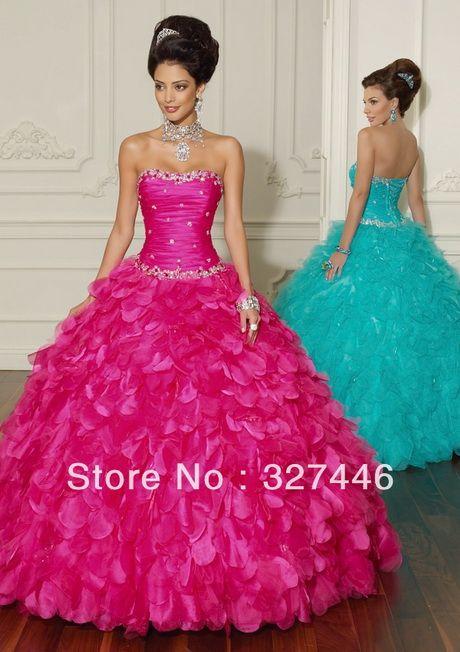 19e946389 Fotos de vestidos de 15 años color fucsia