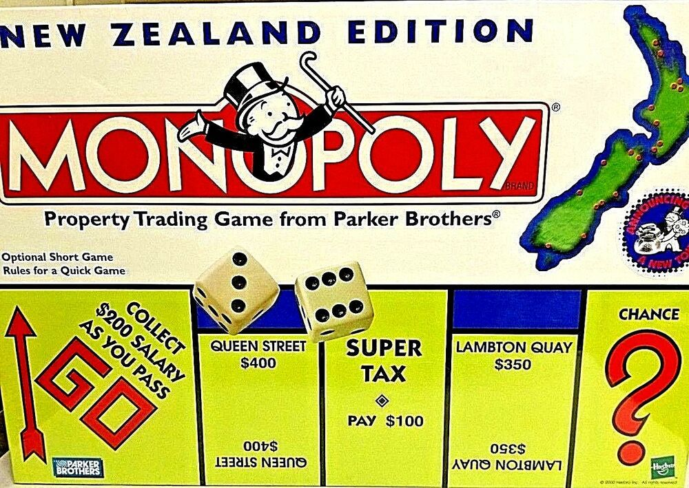 MONOPOLY New Zealand Edition + TOKEN 2000 FACTORY SEALED