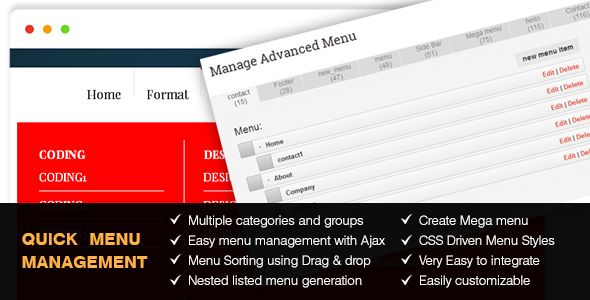 WordPress - Quick Menu Manager for Laravel Projects Quick