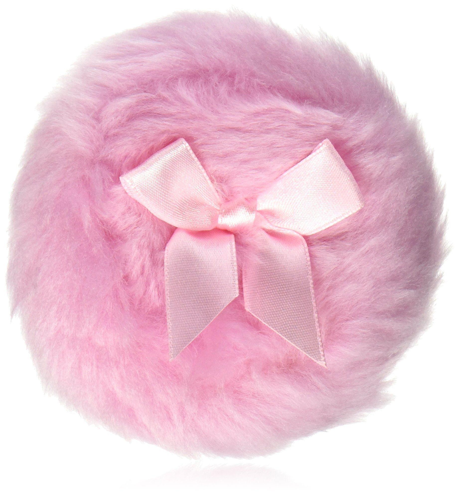 """Diane 3.5"""" Powder Puff. Soft powder puff. Large size. Pink"""