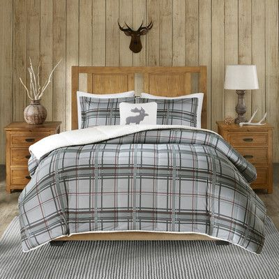 Woolrich Winter Sky Comforter Set Size: Full/Queen, Color: Gray