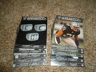 Sponsored - 2008 Oakland Raiders Gameday Programs for The Entire 2008 Home Games + Preseason