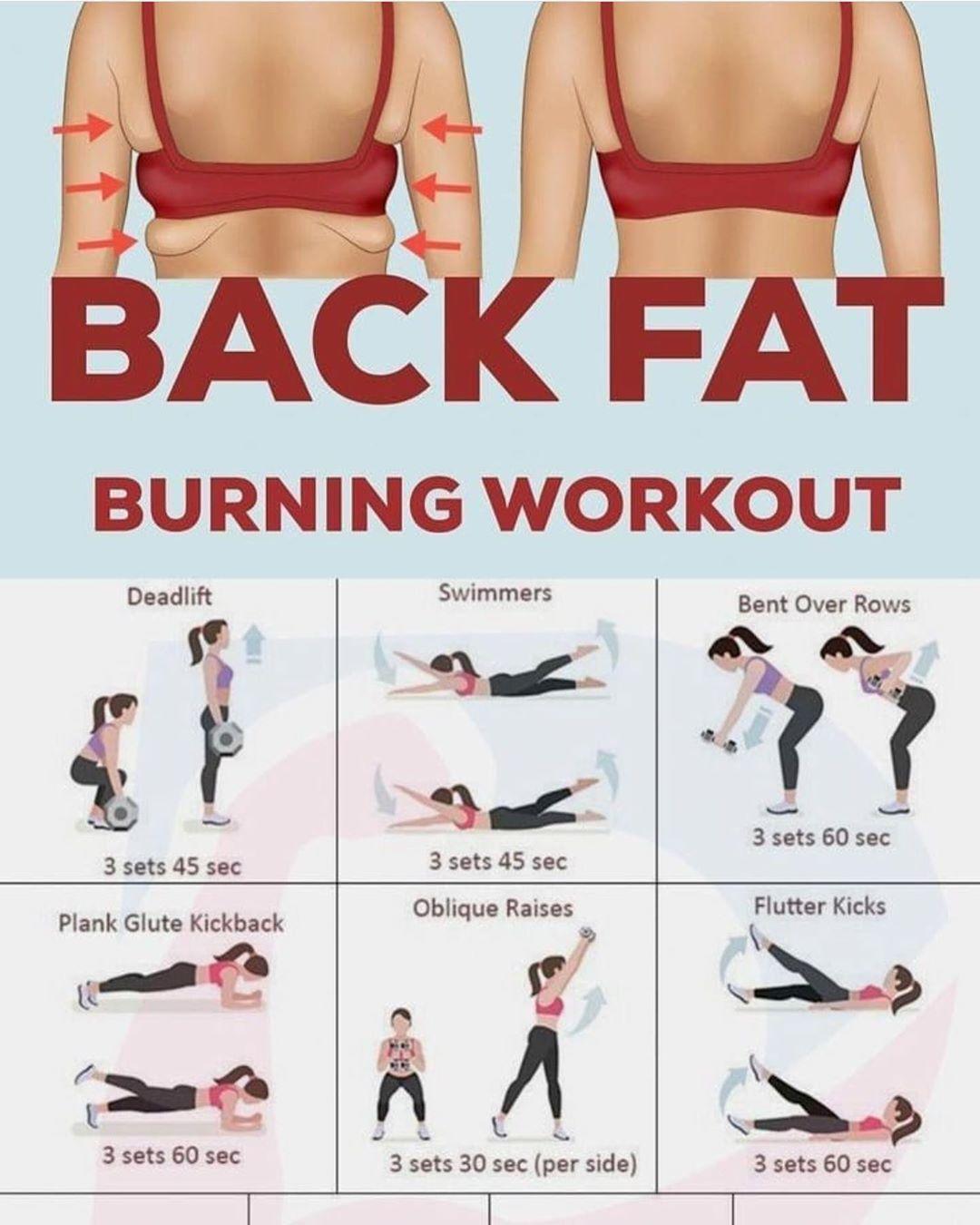 Healthilifestyle On Instagram من ابشع الدهون الي تخرب شكل الجسم دهون الظهر بس الحل سهل و Workout For Flat Stomach Stomach Workout Glute Kickbacks