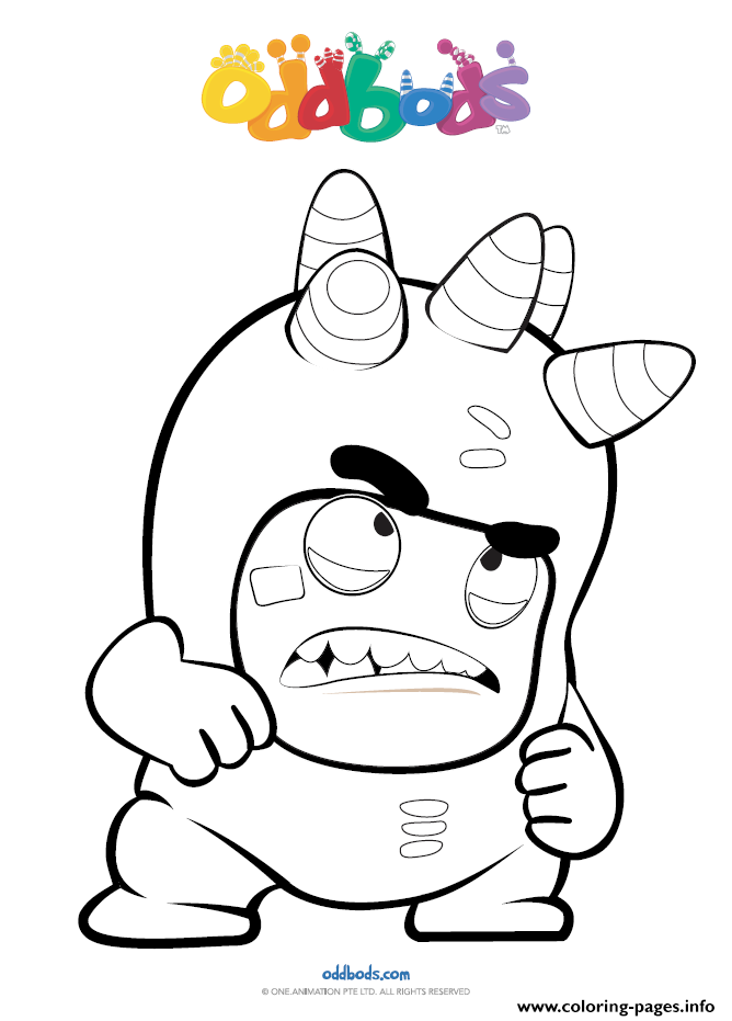 Print Oddbods Angry Coloring Pages Kids Coloring Books Coloring Pages Tinkerbell Coloring Pages
