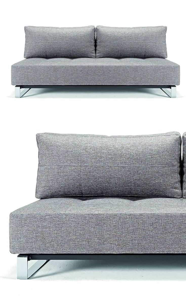 Multifunctional Day And Night Mixed Dance Grey Supremax Deluxe Excess Sofa With Chrome Legs By Innovation Living He Mattress Is Made Up Of A Rigid Metal