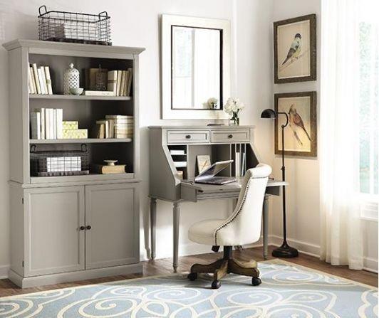 Martha Stewart Living Ingrid Small Secretary Desk Home Home Office Furniture Open Bookcase
