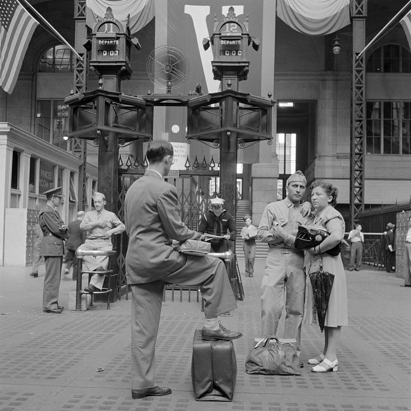 Penn Station, New York City, Aug. 1942.  FSA photo by Marjorie Collins.