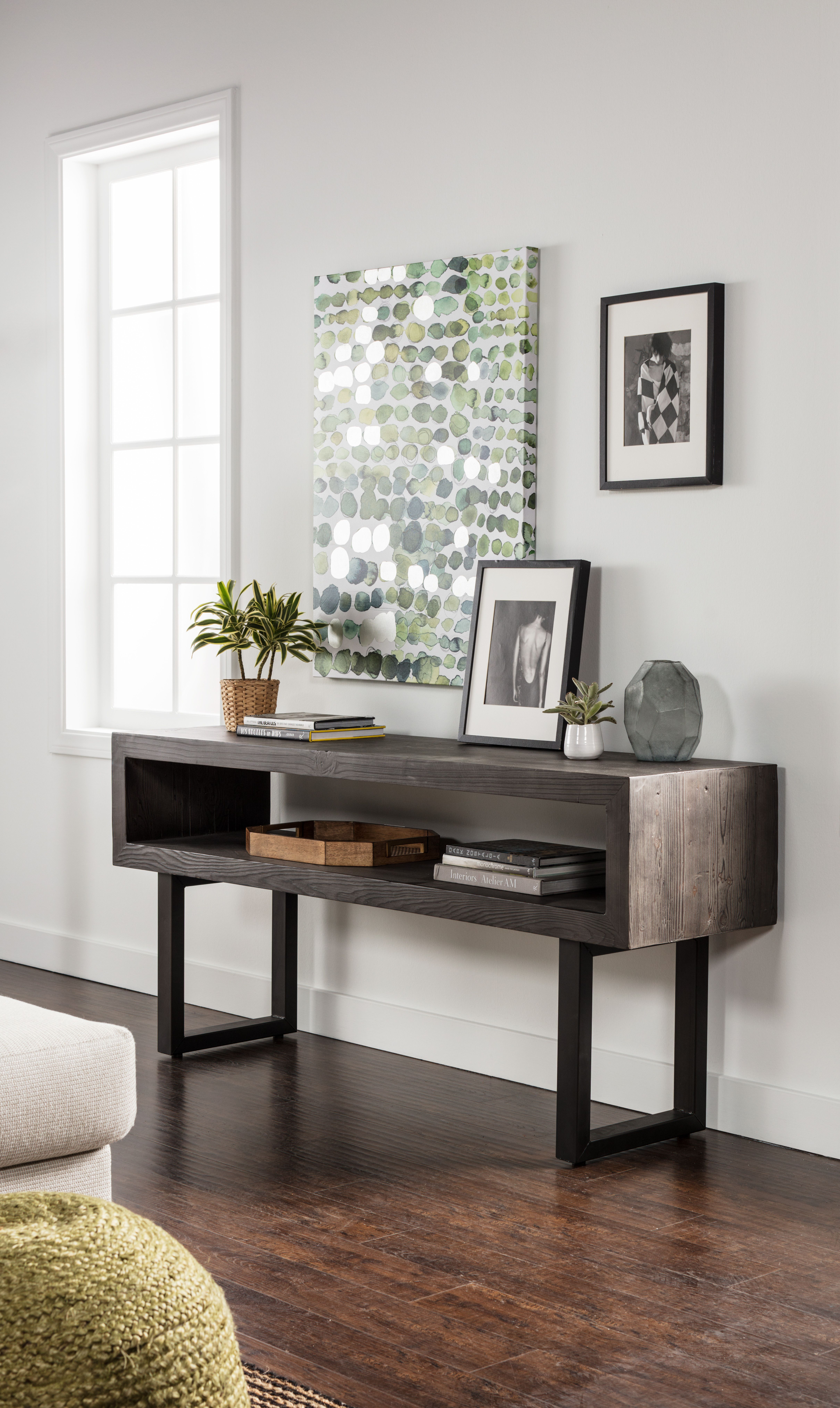 Verona Console Sofa Table Sleek Modern Design With Open Storage Makes The Ultimate Living Room Companion Airy Yet Sturdy Iron Legs And Reclaimed Pi Home Decor