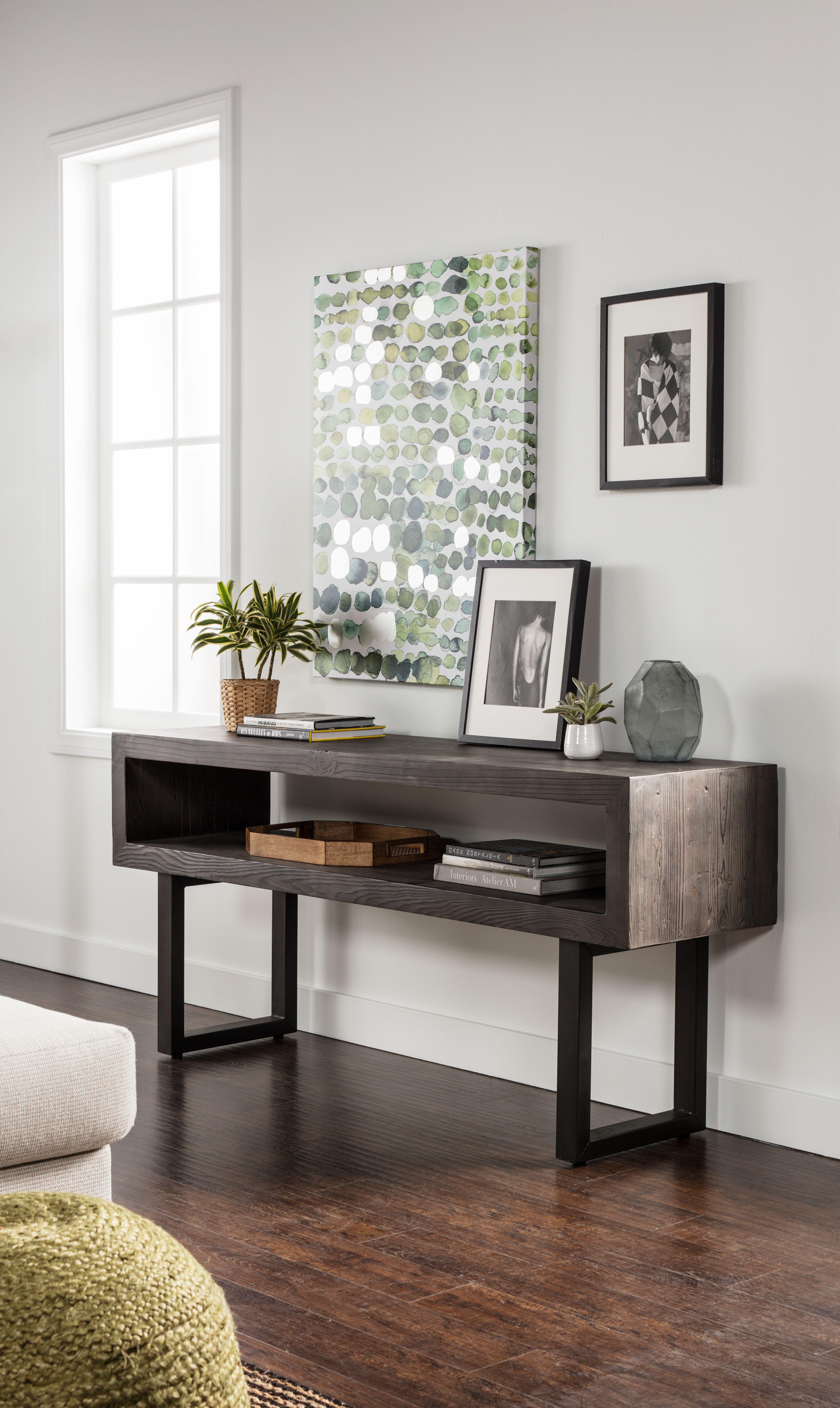 Verona Console Sofa Table Sleek Modern Design With Open Storage