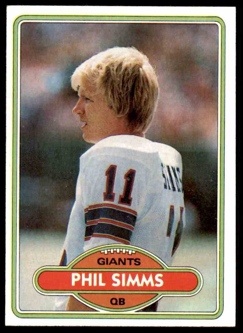 1980 Topps Phil Simms New York Giants Morehead State