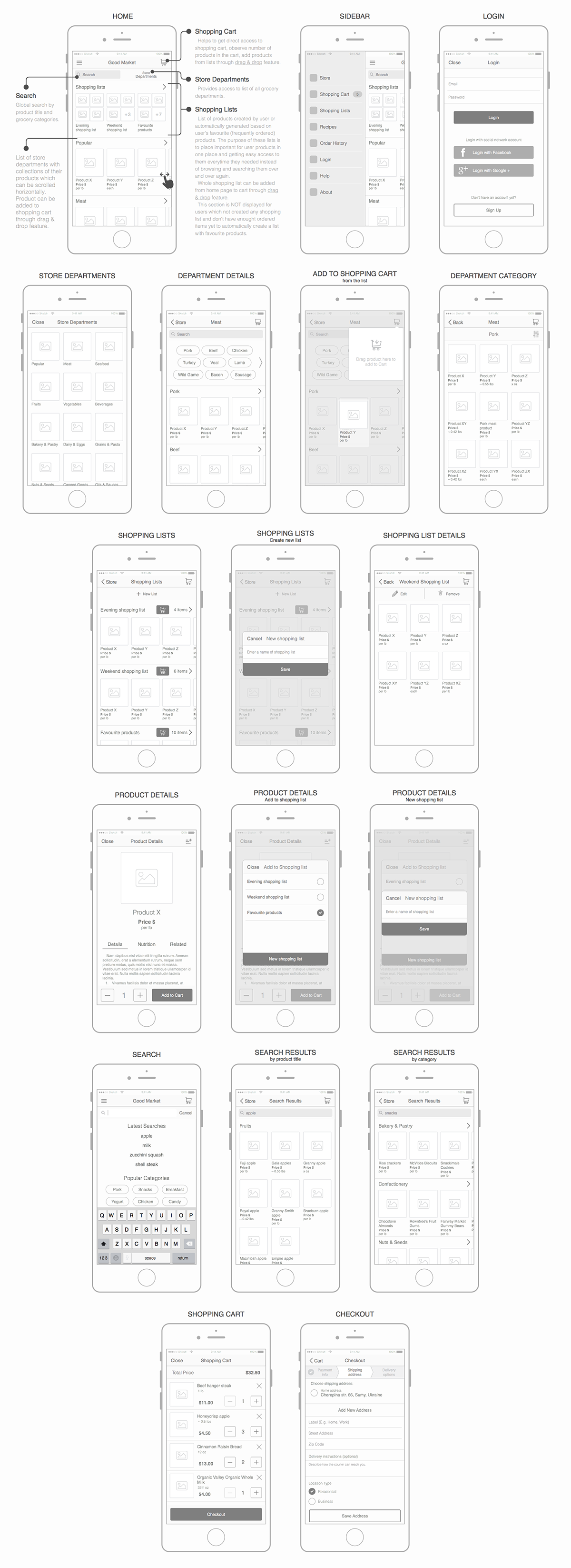 UX Research & Design for Grocery Shopping and Delivery