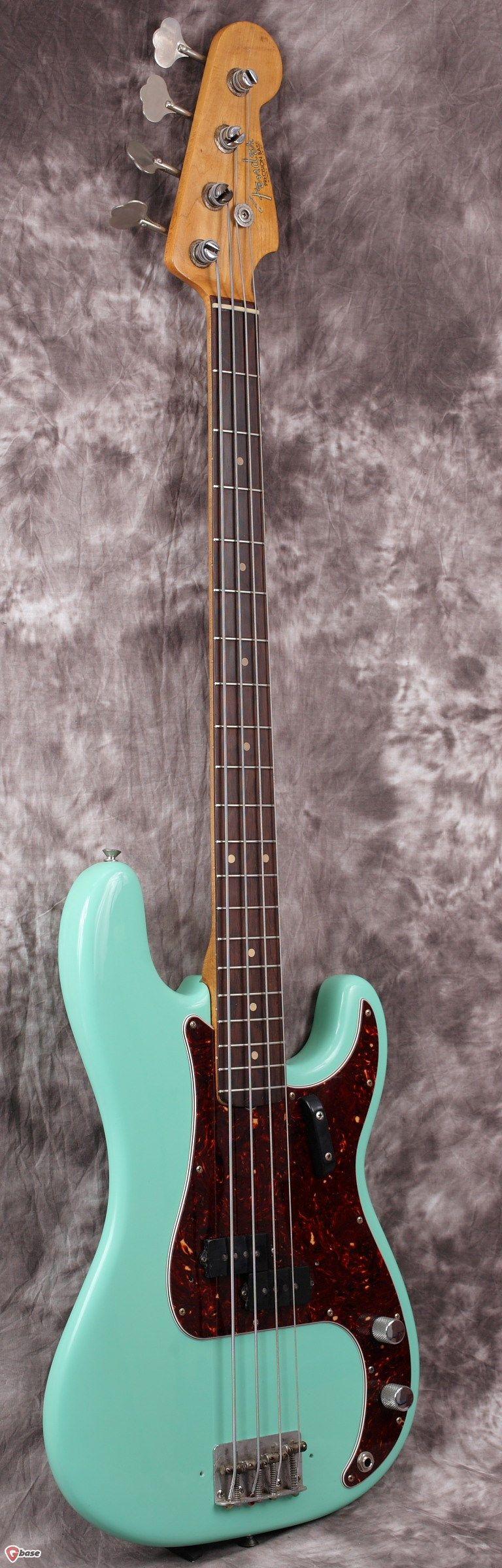 1962 Fender Precision Sea Foam Green > Guitars : Bass - Fiesta Finishes | Gbase.com