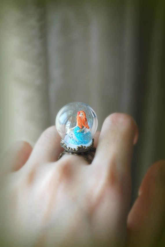 mermaid globe ring