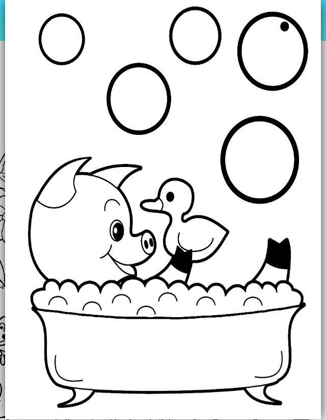 Bici Bici Cartoon Baby Animals Animal Coloring Pages Farm Animal Coloring Pages