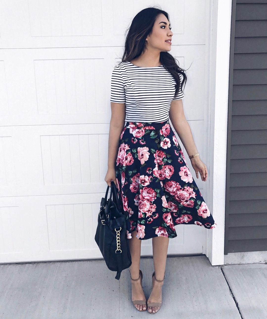 Thedarlingstyle Floral Skirt Outfits Cute Skirt Outfits Fashion [ 1288 x 1080 Pixel ]