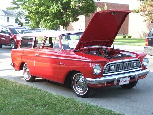 '63 Rambler...same color and almost like the one we had!!! oh the many car trips we had with 5 kids!!