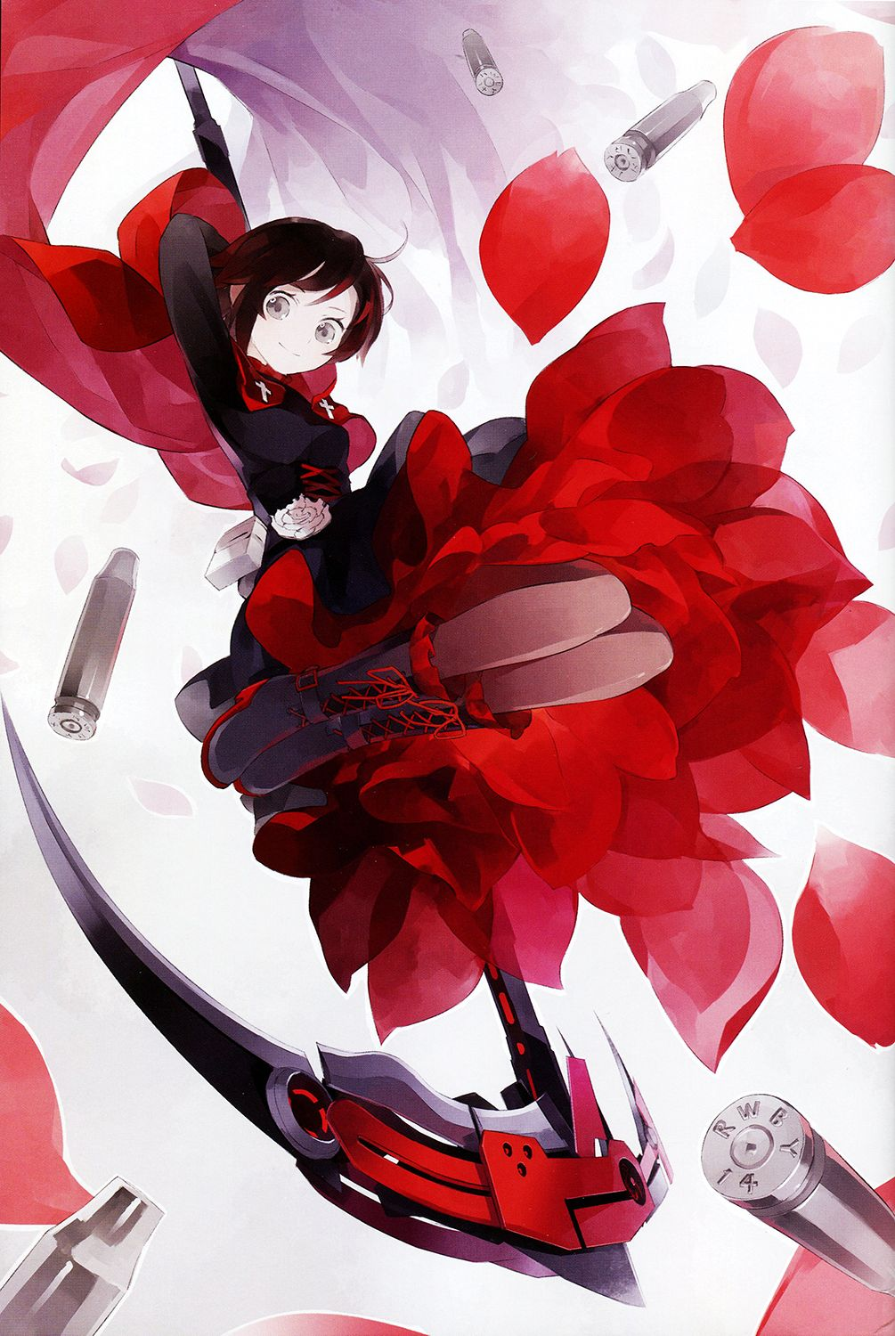 Rwby official japanese fanbook ilustrated by shihou - Rwby ruby rose fanart ...