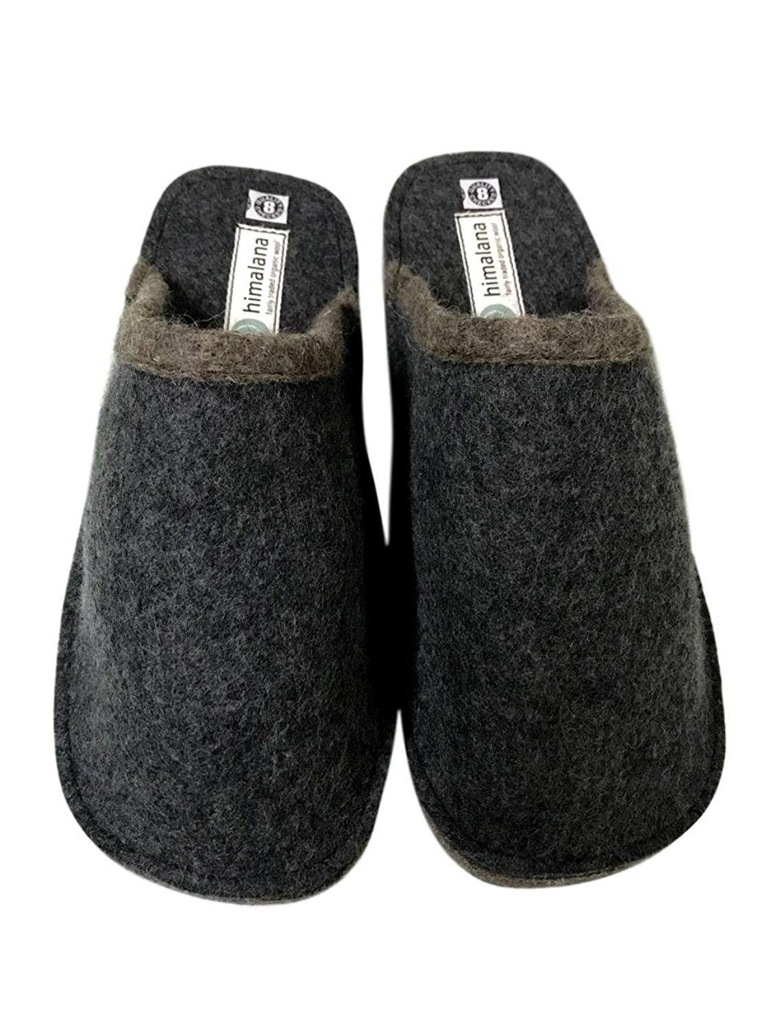 Ladies Mules Womens Soft Suede Slippers Indoor Shoes with Rubber Sole