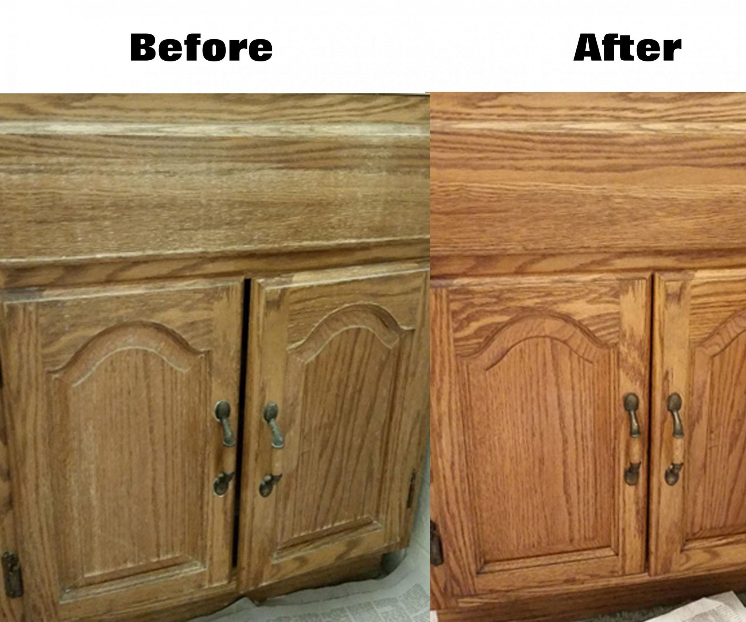 How To Restore Kitchen Cabinets Without Sanding And Varnishing