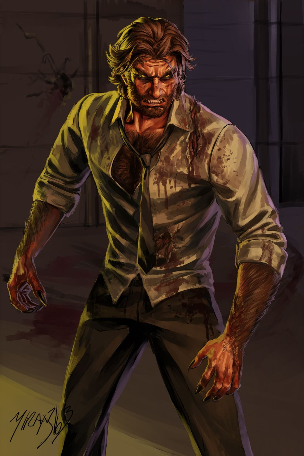 The Wolf Among Us Twau Fables Bigby Wolf The Wolf Among Us Wolf Werewolf Art