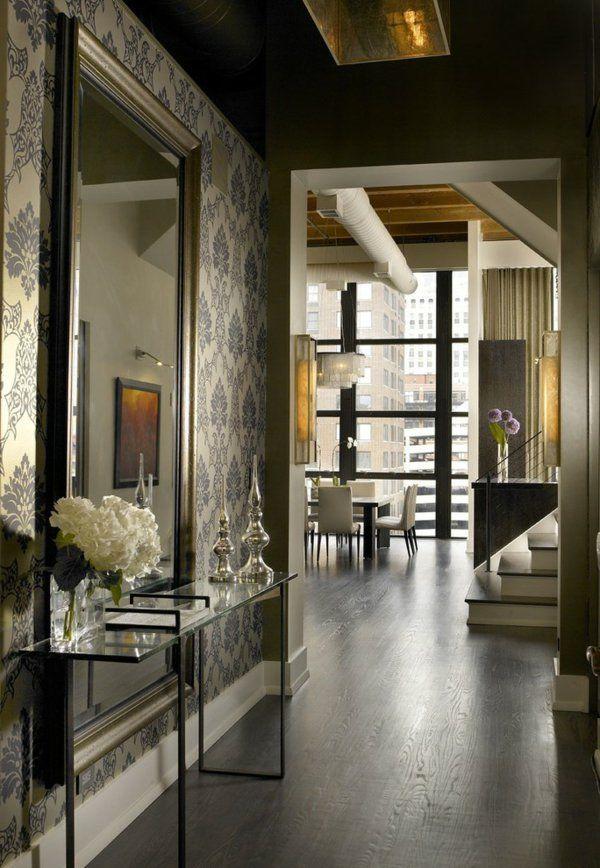 Le meuble console d 39 entr e compl te le style de votre for Grands miroirs muraux