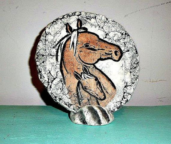 Unique Clay Horses Signed Mt St Helens by SteampunkEarthstones
